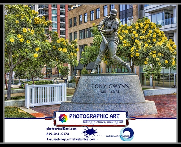 Tony Gwynn statue at Petco Park in San Diego