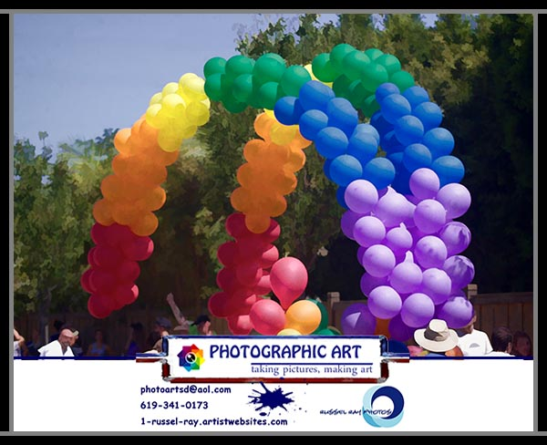 Rainbow balloons at San Diego Gay Pride