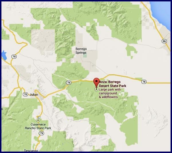 Anza-Borrego Desert State Park location on Google Maps