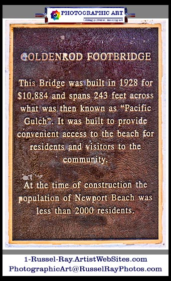 Goldenrod Footbridge Newport Beach California