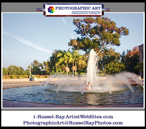 Children playing in Bea Evenson Fountain in San Diego's Balboa Park