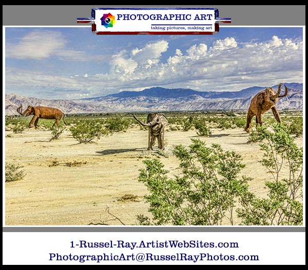 Prehistoric elephants in Borrego Springs, California