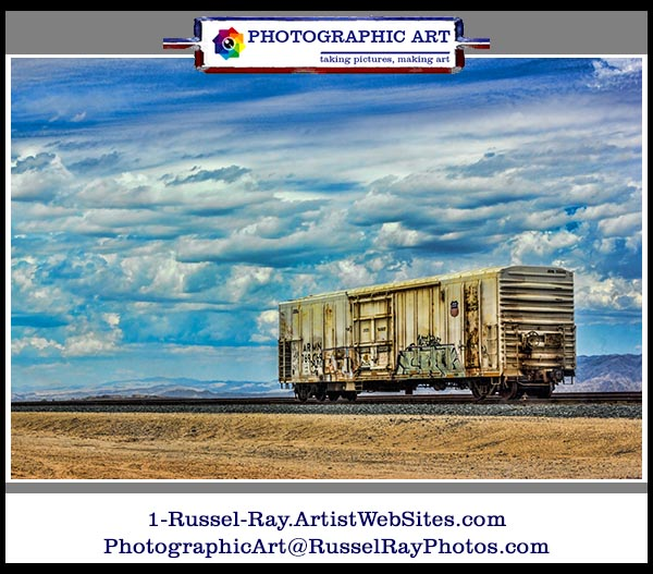 Lonely boxcar in the desert faa framed
