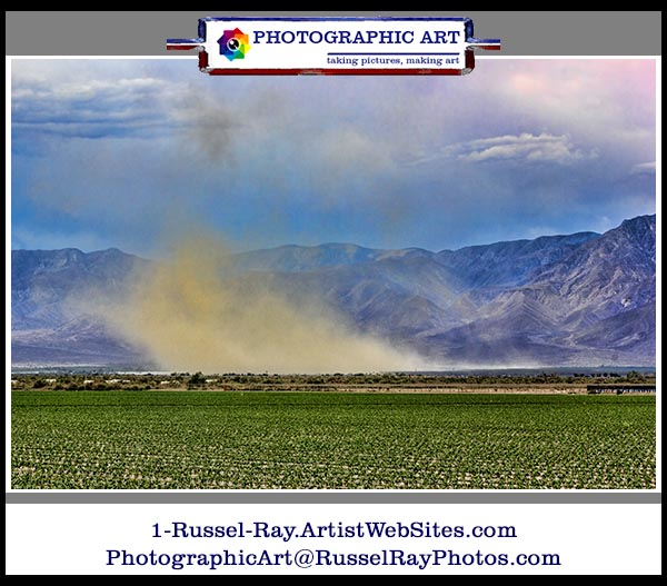 Dust storm in the Southern California high desert near Borrego Springs