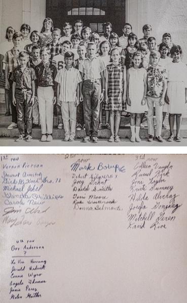 Mrs. Hopkins' home room class, 6th Gradd 1966, Flato Elementary School, Kingsville TX