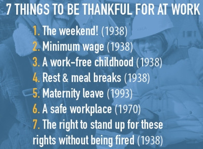 7 things to be thankful at work
