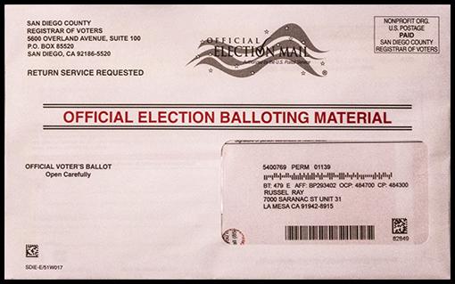 California mail ballot