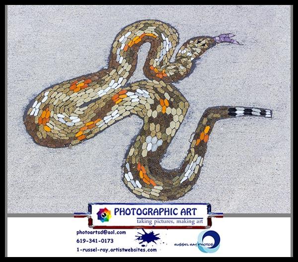 Sidewalk snake art
