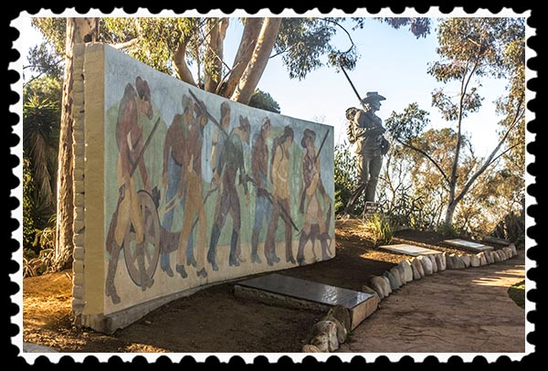 Monument to the Mormon Battalion at Fort Stockton in San Diego