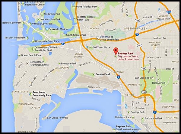 Pioneer Park location