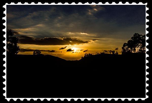Sunset in Vista, California, on Veterans' Day 2014