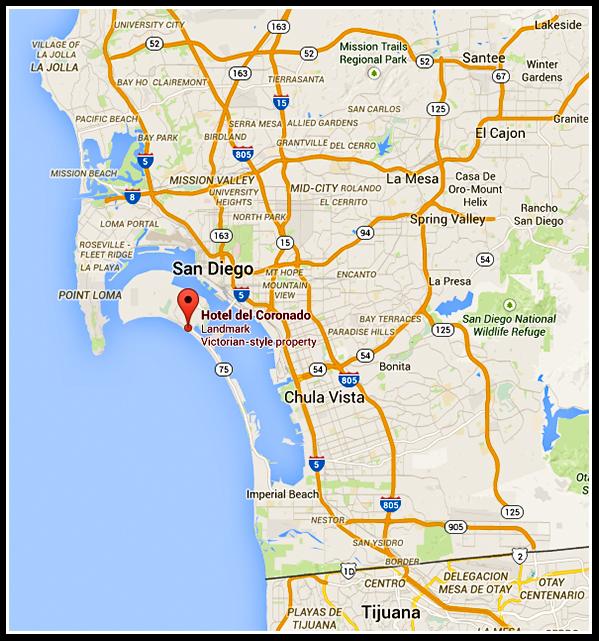 Hotel del Coronado location on map
