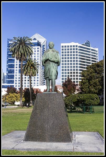 Benito Juarez statue in San Diego