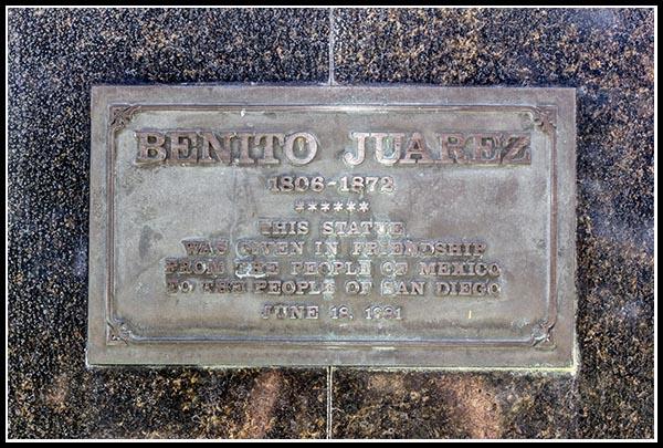 Benito Juarez plaque