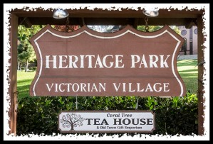 Heritage Park sign