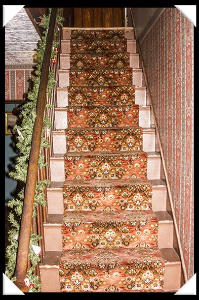 Staircase in the historic Davis-Horton House in San Diego's historic Gaslamp Quarter
