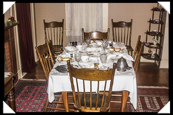 Dining Room of the historic Davis-Horton House in San Diego's historic Gaslamp Quarter