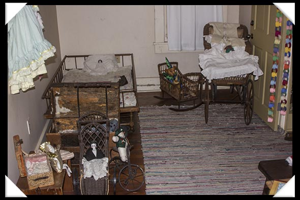 The children's room in the historic Davis-Horton House in San Diego's historic Gaslamp Quarter