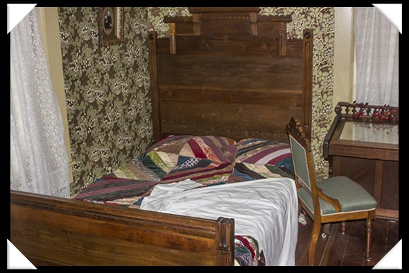 Alonzo Horton's bedroom in the historic Davis-Horton House in San Diego's historic Gaslamp Quarter