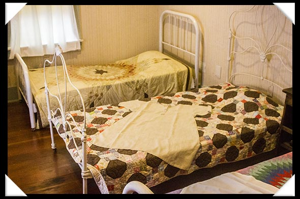 The hospital room in the historic Davis-Horton House in San Diego's historic Gaslamp Quarter