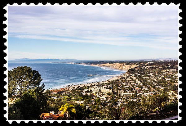 Ocean view from The Munchkin House of La Jolla, California