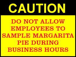 Margarita pie caution