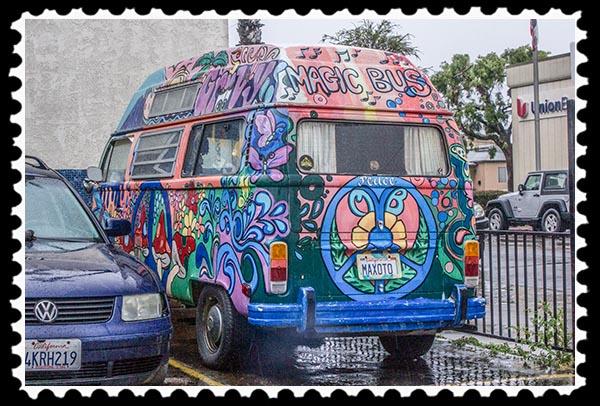 The Magic Bus in Ocean Beach, San Diego, California