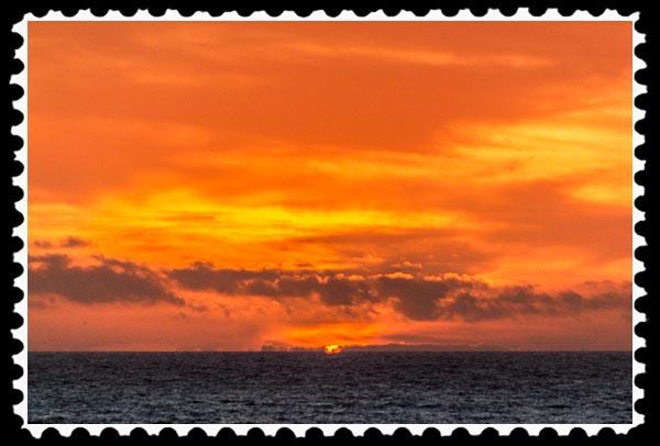 Sunset at La Jolla Cove in La Jolla, California on March 23, 2015