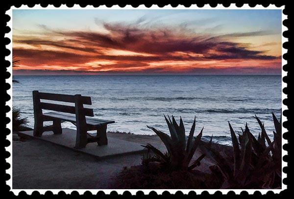 Sunset at La Jolla Cove in La Jolla, California