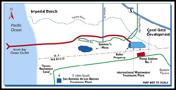 Ocean outfall map