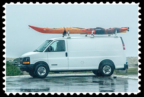 img_0103 van and kayak ocean beach original stamp