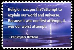 religion was our first attempt stamp