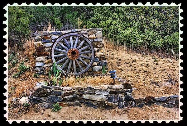 img_2034 wagon wheel altered stamp