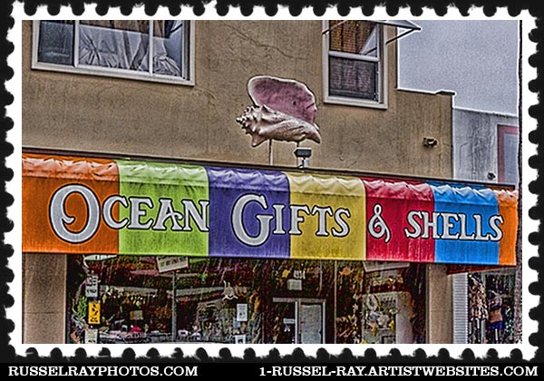 omg_0174 ocean beach business sign stamp