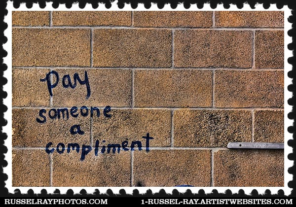 Pay someone a compliment graffiti