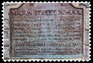 Mason Street School marker