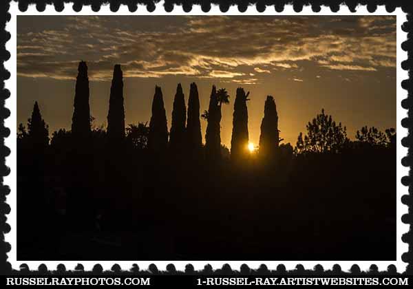 Sunrise in La Mesa, California