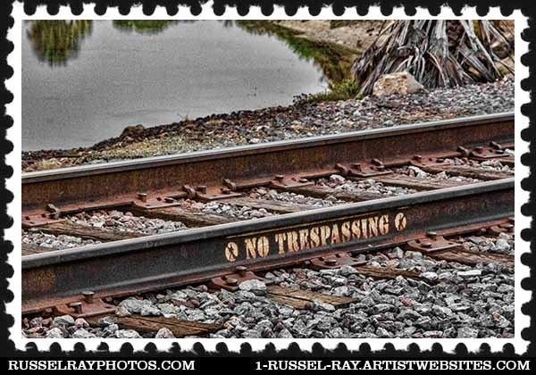 Railroad No Trespassing sign