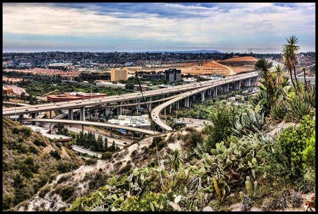 Interstate 805/Interstate 8 interchange in San Diego's Mission Valley