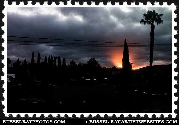 San Diego (La Mesa) sunrise, January 14, 2016