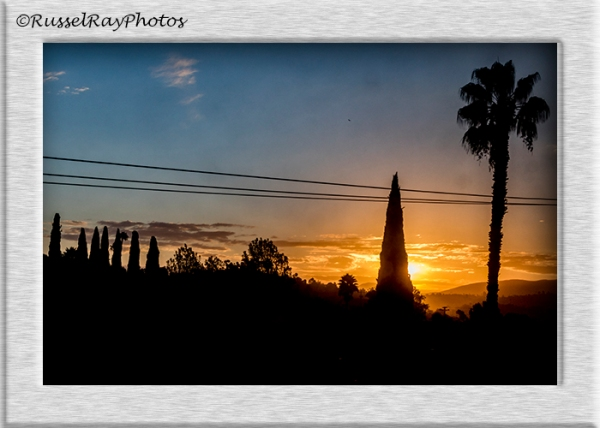 Sunrise in La Mesa, California
