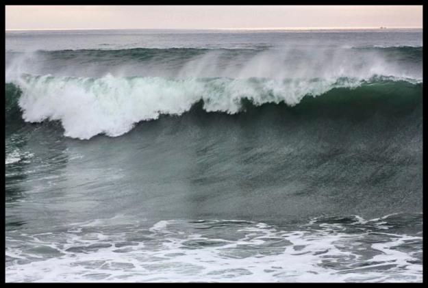 High tide in Ocean Beach CA