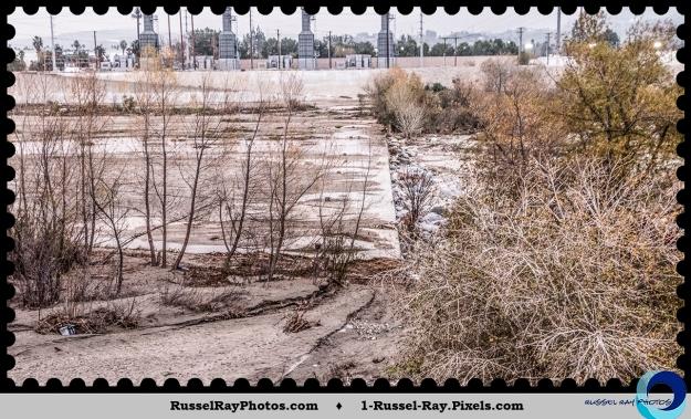 Concrete river bed