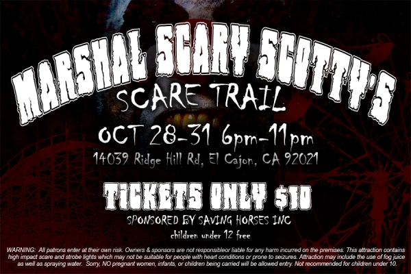 Marshal Scary Scotty's Scare Trail