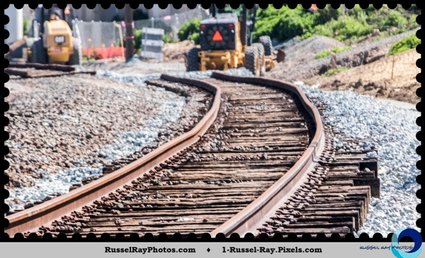 Excessive bends in re-aligned Amtrak tracks