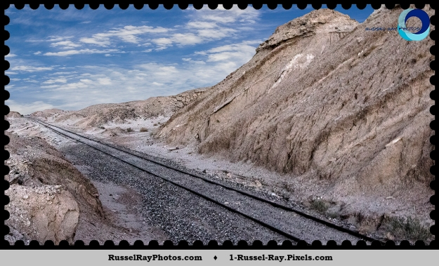 San Diego & Arizona Railroad tracks east of Ocotillo CA