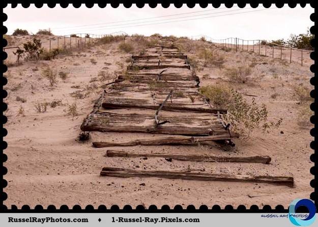Old Plank Road remnants near Yuma, Arizona