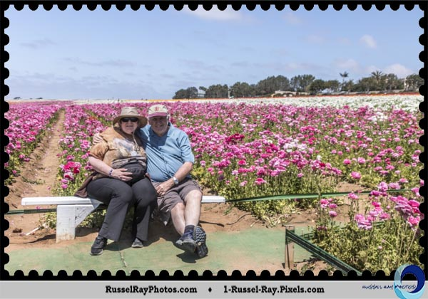 Bryan & Liz Flint at the Carlsbad Flower Fields