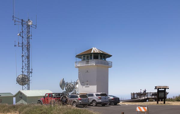 Boucher Tower, a fire lookout tower on Palomar Mountain in Southern California