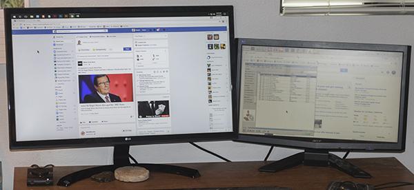 Fine fine fine new 4K super monitor compared to old monitor